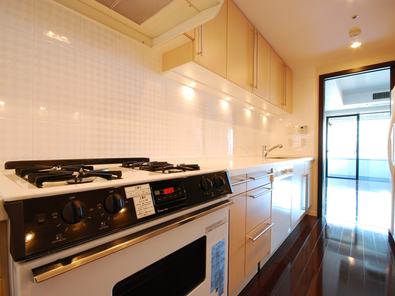 (a built-in kitchen  Gas Stove)