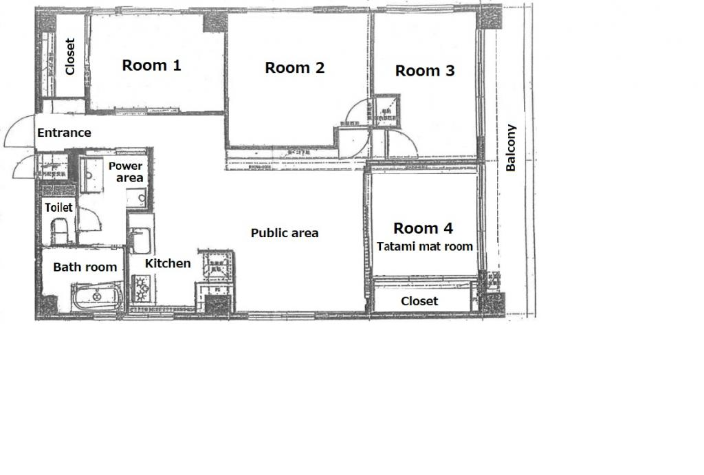 Floorplan (Room 1 is available now.)